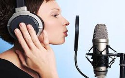 Woman Doing Microphone Work
